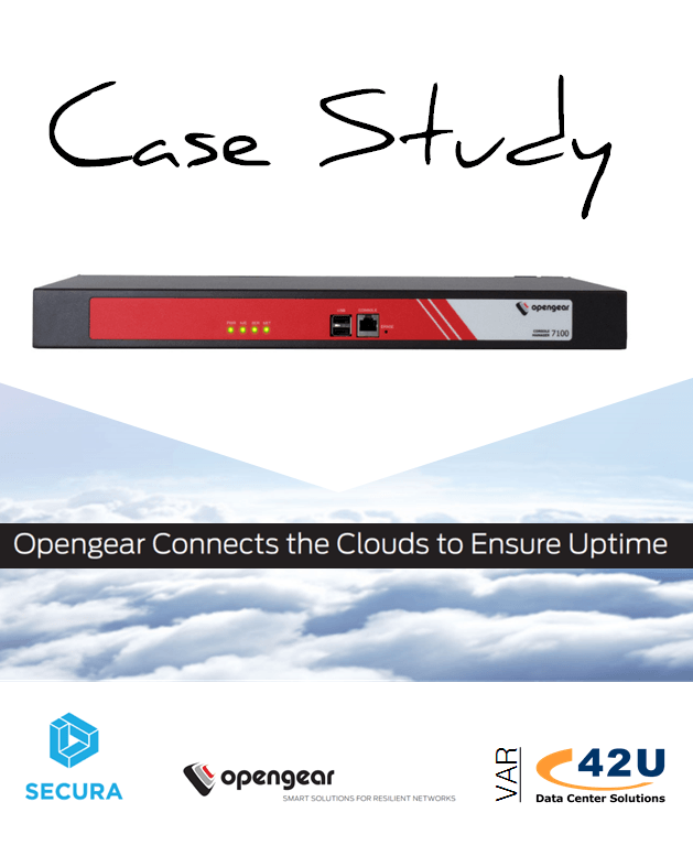 opengear-secura-case-study 42u solutions for the next generation data center