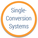 single conversion system ups