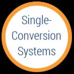 single conversion system ups