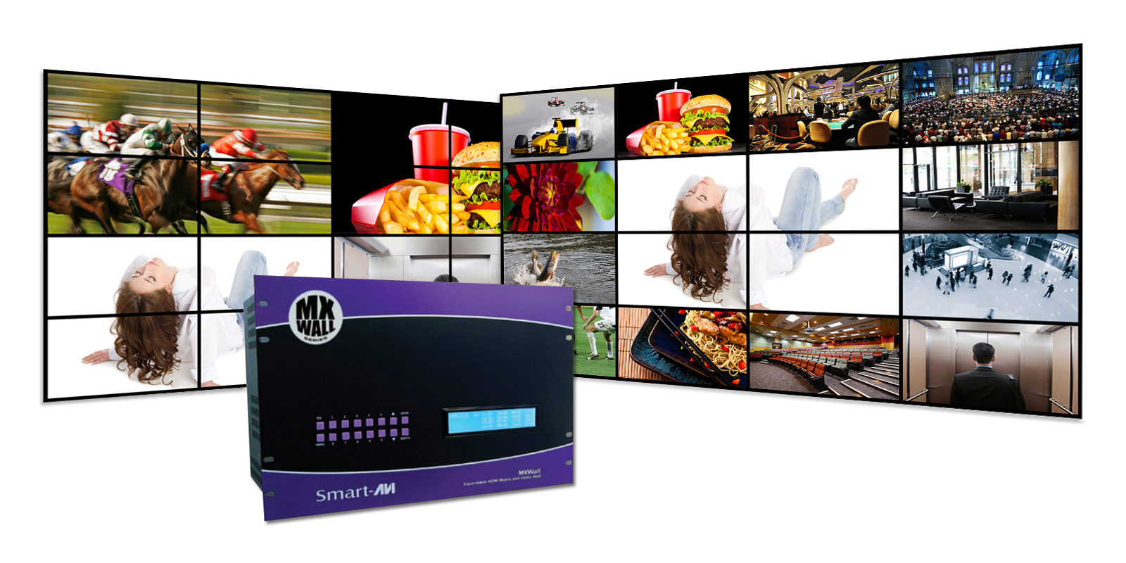 SmartAVI-MXWall 42u data center solutions most powerful video player SmartAVI Digital Signage