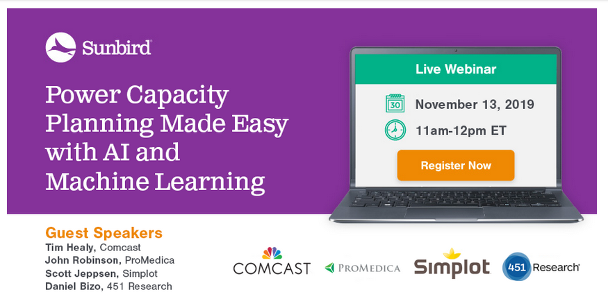 Power Capacity Planning Made Easy with AI and Machine Learning Webinar