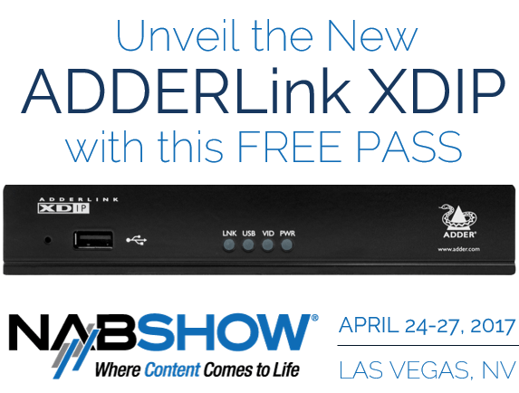 adderlink xdip nab 2017 free pass las vegas 42u data center solutions