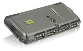 IOGEAR MicroHub 4 Port Hi-Speed USB 2.0 Hub