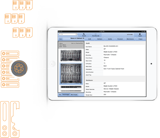sunbird 42u data center solutions dcim monitoring ipad mobile