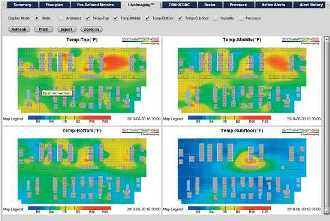 Multi-level SynapSoft Real-Time Temperature Map